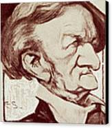 Caricature Of Richard Wagner Canvas Print by Anonymous