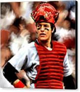 Fisk  Carlton Fisk Canvas Print by Iconic Images Art Gallery David Pucciarelli