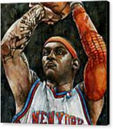 Carmelo Anthony Canvas Print by Michael  Pattison
