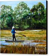 Carolina Cove Canvas Print by Diane Kraudelt