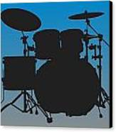 Carolina Panthers Drum Set Canvas Print