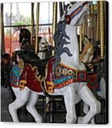 Carousel At Santa Cruz Beach Boardwalk California 5d23634 Canvas Print by Wingsdomain Art and Photography