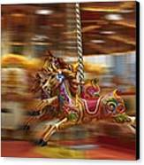 Carousel Canvas Print by Peter Skelton