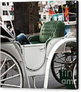 Carriage Ride In Central Park Canvas Print by John Rizzuto