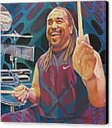 Carter Beauford Pop-op Series Canvas Print by Joshua Morton