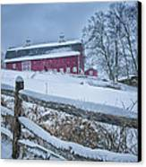 Carter Farm - Litchfield Hills Winter Scene Canvas Print by Thomas Schoeller