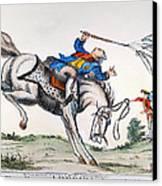 Cartoon: Outcome, 1779 Canvas Print by Granger