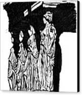 Caryatids In High Contrast Canvas Print