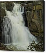 Cascade Creek Under The Bridge Canvas Print by Bill Gallagher