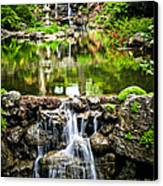 Cascading Waterfall And Pond Canvas Print by Elena Elisseeva