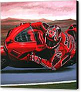 Casey Stoner On Ducati Canvas Print by Paul Meijering