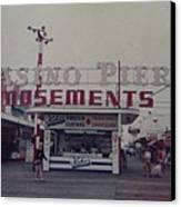 Casino Pier Amusements Seaside Heights Nj Canvas Print by Joann Renner