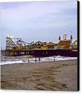Casino Pier Boardwalk - Seaside Heights Nj Canvas Print by Glenn Feron