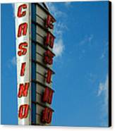 Casino Sign Canvas Print