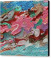 Caspian Sea Abstract Painting Canvas Print by Julia Apostolova