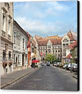 Castle District In Budapest Canvas Print