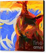 Cat Abstract Art Canvas Print by Pixel Chimp