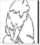 Cat Drawings 1 Canvas Print