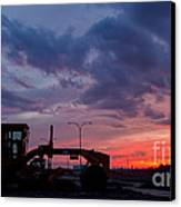 Cat Grader Sunset Silhouette Canvas Print by Alanna DPhoto
