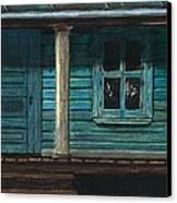 Cat On The Porch Canvas Print by J Ferwerda