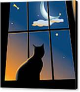 Cat On The Window Canvas Print by Aleksey Tugolukov