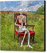 Catching Up On Human Anatomy And Physiology Canvas Print by Betsy Knapp