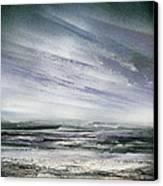 Catclough Reservoir Winter Rythms And Textures Canvas Print