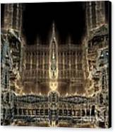 Cathedral By Night Canvas Print by Bernard MICHEL
