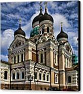 Cathedral In Tallinn Canvas Print by David Smith