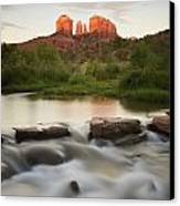 Cathedral Rock At Red Rock Canvas Print by Peter Carroll