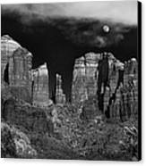 Cathedral Rock Moon Rise Canvas Print