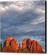 Cathedral Rock Sunset Canvas Print by Robert Jensen