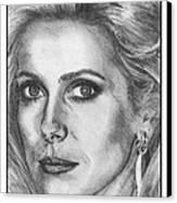 Catherine Deneuve In 1976 Canvas Print by J McCombie