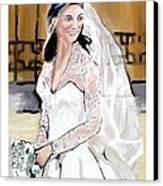Catherine Duchess Of Cambridge Print  Canvas Print by Eric  Schiabor