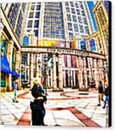 Caught In The Geometry Of Boylston Street Canvas Print