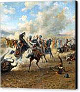 Cavlary Battle Canvas Print by Victor Mazurovskii