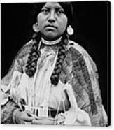 Cayuse Woman Circa 1910 Canvas Print
