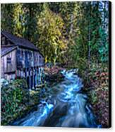 Cedar Creek Grist Mill Canvas Print by Puget  Exposure