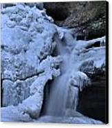 Cedar Falls In Winter At Hocking Hills Canvas Print by Dan Sproul