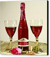 Celebrate With Sparkling Rose Wine Canvas Print