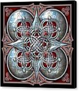 Celtic Hearts - Red Canvas Print by Ricky Barnes