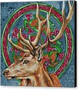 Celtic Stag Canvas Print