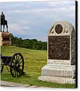 Cemetery Ridge Gettysburg Canvas Print by James Brunker