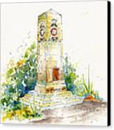 Cenotaph Clock Tower Canvas Print by Pat Katz