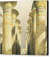 Central Avenue Of The Great Hall Of Columns Canvas Print by David Roberts