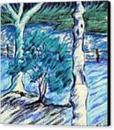 Central Park Blues Canvas Print by Elizabeth Fontaine-Barr