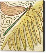 Ceramic Dragonfly Canvas Print by Anna Skaradzinska