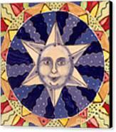 Ceramic Star Canvas Print by Anna Skaradzinska