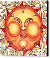 Ceramic Sun 2 Canvas Print by Anna Skaradzinska