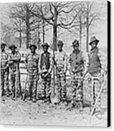 Chain Gang C. 1885 Canvas Print by Daniel Hagerman